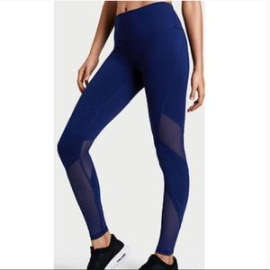 Victoria's Secret Sport Navy Blue Mesh Leggings